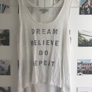 dream believe do repeat tank